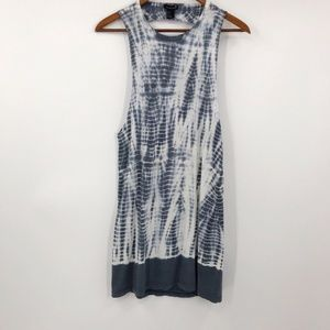 Forever21 Tank Dress Cover Up Tie Dye Cut Out Back